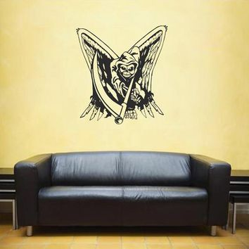ik1818 Wall Decal Sticker Grim Reaper wings living room bedroom
