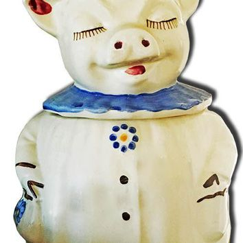Pig Figurine Cookie Jar Laser Cut Out 15.5″x24.5″