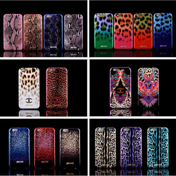 Luxury Puro Just Cavallis Leopard / Snake Print TPU Case Silicon Cover for  iphone 6 case 4.7inch phone capa celular