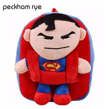 PECKHAMRYE 2017 Kids Backpacks toddler backpack preschool backpacks for boys Marvel Hero Children Bags Superman Batman Spiderman