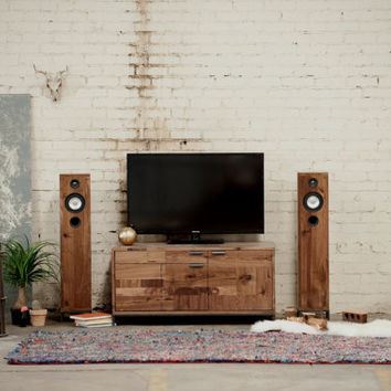 Small Patchwork Console - Walnut Media Cabinet