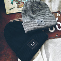 Beanie - Sad Face - Snapbacks & Beanies - Men - Modekungen