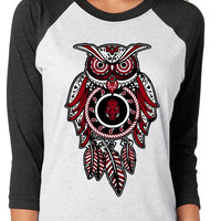 Arkansas Razorbacks Owl  Raglan Shirt