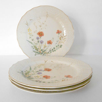 Plates Mikasa Margaux Pattern Fine Ivory Japan Set of Four