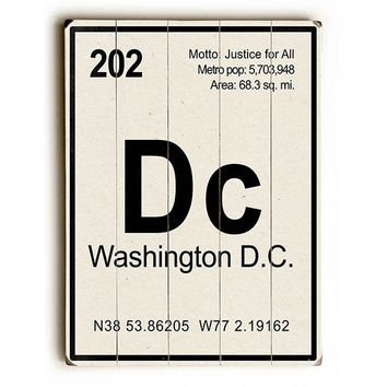Washington DC Elements by GI ArtLab Wood Sign