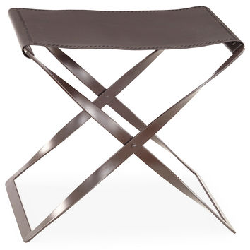 Folding Leather Stool, Standard Stools