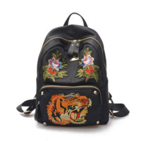 Gucci Embroidery Casual Sport Laptop Bag Shoulder School Bag Backpack