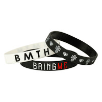 Bring Me The Horizon Logos Rubber Bracelet 3 Pack