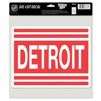 ONETOW NHL DETROIT RED WINGS RETRO LOGO FULL COLOR CAR WINDOW STICKER DECAL 8X8 INCHES