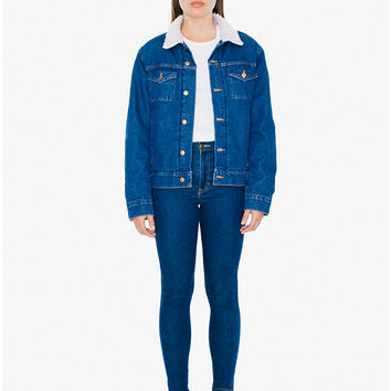 Unisex Denim Sherpa Jacket | American Apparel