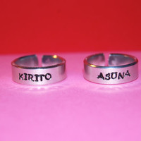Custom Aluminum Adjustable Sword Art Online Ring Pair
