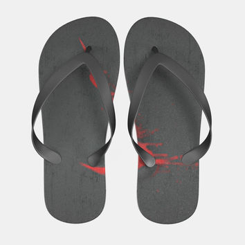 Nike Red Splash Flip Flops Men Women