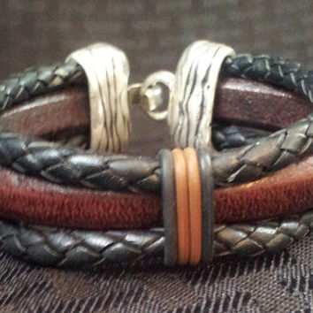 Men's Genuine Leather Bracelet Regaliz Leather &