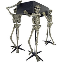 Halloween Prop: Skeleton Pall Bearers with Coffin