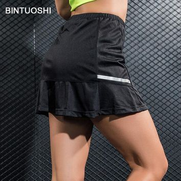 BINTUOSHI Pleated Tennis Skirt Women High Waist Badminton Skorts Table Tennis Sport Golf Skirts