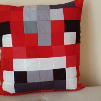 Mooshroom Minecraft Pillow- 16x16