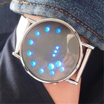 ICIKNY1Q Boys & Men LED Electronic Watch Stainless Steel Digital Watch