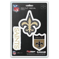 New Orleans Saints Auto Decal NFL Car Sticker Pack of 3