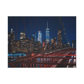Brooklyn Bridge Manhattan Skyline Canvas Print