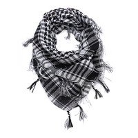 Men Arab Shemagh Keffiyeh Military Palestine Scarf Grid Shawl Wraps