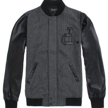 Diamond Supply Co Un Polo Varsity Jacket - Mens Jacket - Black
