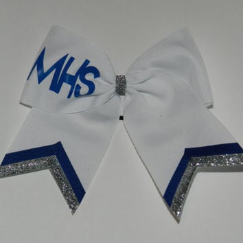 Personalized 3 Texas Size Cheer bow  single layer  by ABCBows