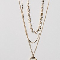 Liars & Lovers Layering Horn Necklaces at asos.com