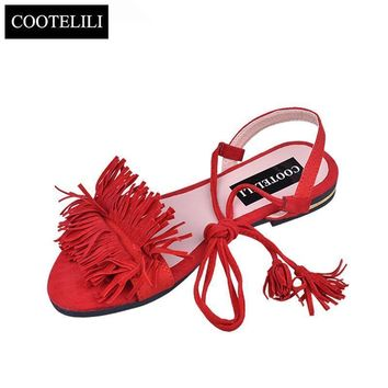 Women Summer Fashion Flip Flop Sandals With Tassel Detailing