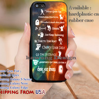 Lessons Disney Learned Peter Pan iPhone 6s 6 6s+ 5c 5s Cases Samsung Galaxy s5 s6 Edge+ NOTE 5 4 3 #cartoon #animated #disney #peterpan dl9