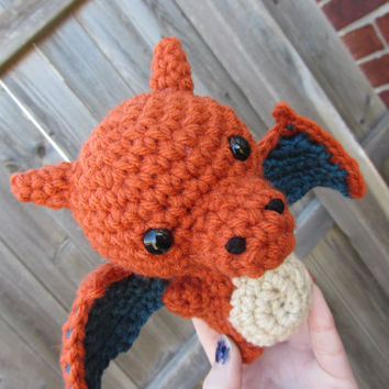 Made to Order - Chibi Pokemon Amigurumi - Charizard
