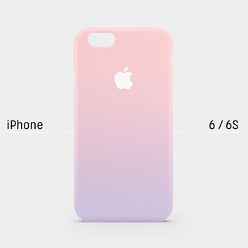 iPhone case - Pastel gradation pink purple - iPhone 6 case, iPhone 6s case,iPhone 6 Plus case, iPhone 5s case, iPhone 5 case non-glossy