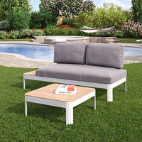 Rosa Convertible Outdoor Lounger & Table, Set of 2