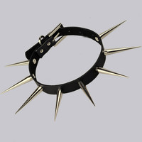 Studded Spike Neck Collar A Punk Rock Clothing Apparel Accessory Punkrock Style