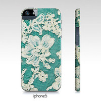 samsung galaxy S3, iphone4,4s, 5 phone case, white lace photograph, turquoise, aqua, girly