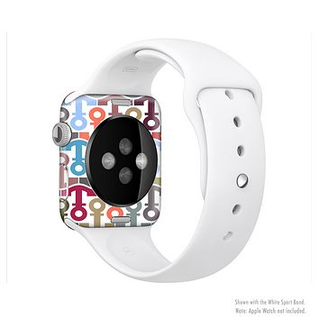 The Color Vector Anchor Collage Full-Body Skin Set for the Apple Watch