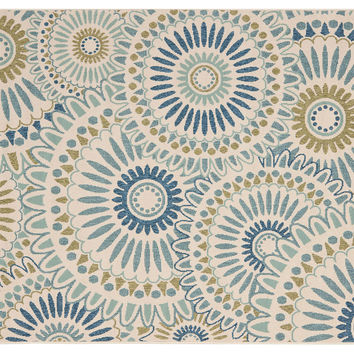 Sultan Outdoor Rug, Blue/Green, Area Rugs