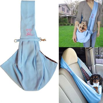 Reversible 2 in 1 Soft Dog Sling Carrier