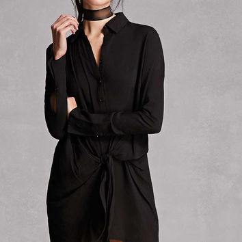 Wrap-Front Shirt Dress
