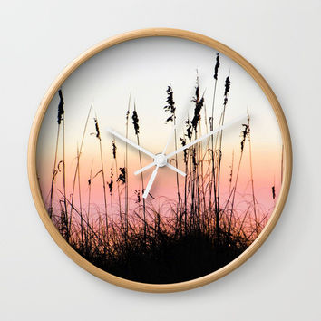 Beach Dunes at Sunset Wall Clock by Digital Effects