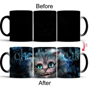 Color Changing Cheshire Cat Coffee Mug / Coffee Cup