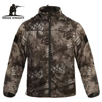 Mege Brand Clothing Summer Men Jacket Tactical Camouflage Military Ultra Light UV Sun Protection Breathable Fast Dry Casual