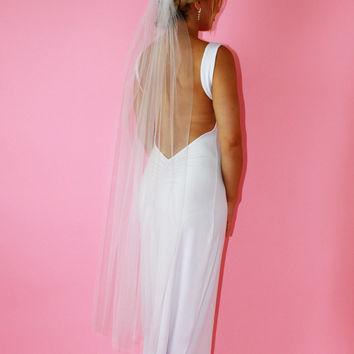 Mid-Length Bridal Illusion Veil