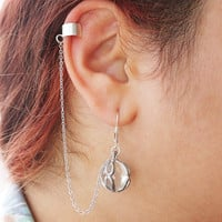 Lord of The Rings - Elven Ear Cuff -  Silver Elven Sorcerer Ear Cuff