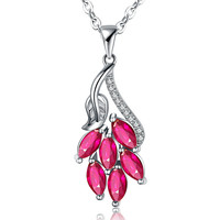 Jewelry Stylish Gift New Arrival Shiny Korean Simple Design 925 Silver Crystal Pendant Necklace [4918317252]