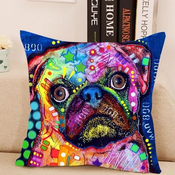 Lovely Dog Cushion Cover Creative Animal Lens Pillow For Living Room Bed Room 43x43cm 1pce