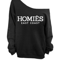 Homies - East Coast - Black Slouchy Sweater - CREW