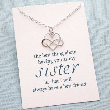 Sister Infinity Necklace