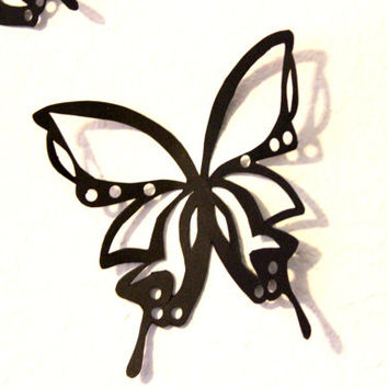Black Butterflies, Large Butterflies, Paper Butterflies, Butterfly Wall Art, Nursery, Home Decor, Art, Wedding, Baby Shower, Girls Room