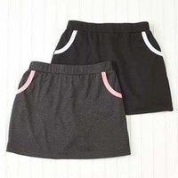 Womens Set of 2 Casual Skorts Contrast Trim Gym Walking Lounge Wear Small 6/8
