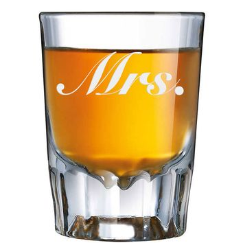 Etched Mrs. Shot Glass 1.89oz